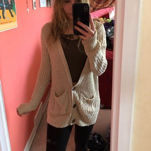 Long knitted hollister cardigan